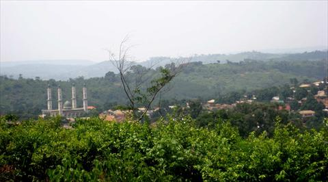 View from surrounding hills